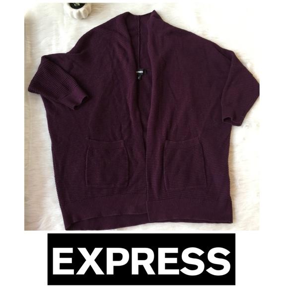 Express Sweaters - 💥 3/$15 Express Sweater   Shrug Burgandy